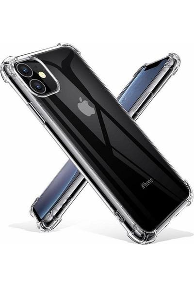 Kılıfreyonum Apple iPhone 11 Ultra İnce Şeffaf Airbag Anti Şok Silikon Kılıf Anti Shock Kılıf