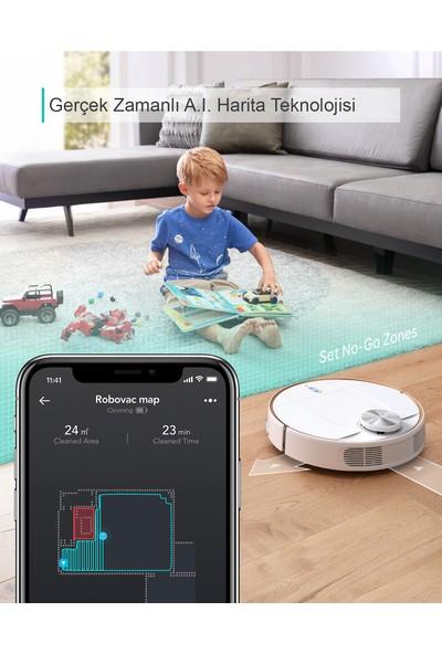 Anker Eufy RoboVac L70 Hybrid Akıllı Robot Süpürge - Silme ve Süpürme - Laser Navigasyon - Wi-Fi Uygulama Destekli - HEPA Filtreli - T2190