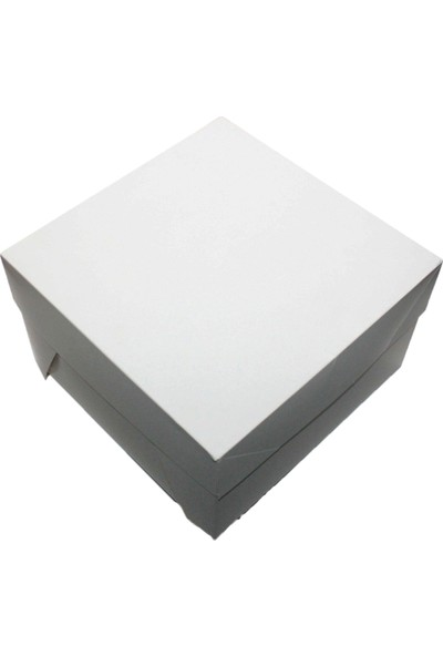 Kutu Dünyası Butik Pasta Kutusu 10'' 25 x 25 x 15 cm 25'li