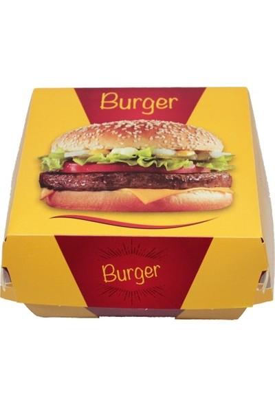 Kutu Dünyası Büyük Hamburger Kutusu 11,5 x 11,5 x 8 cm 300'lü