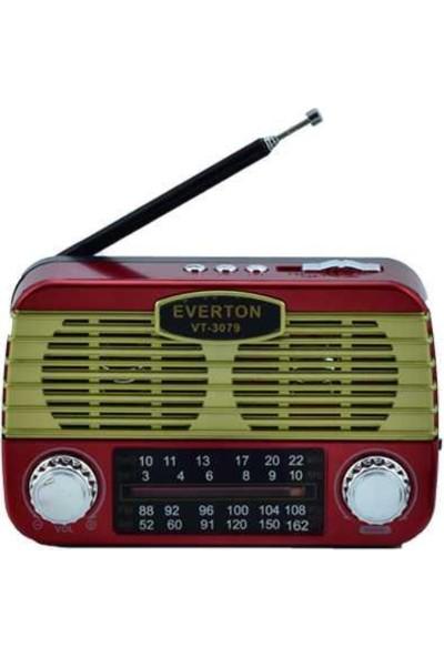 Everton Vt-3079 Radyo Kırmızı