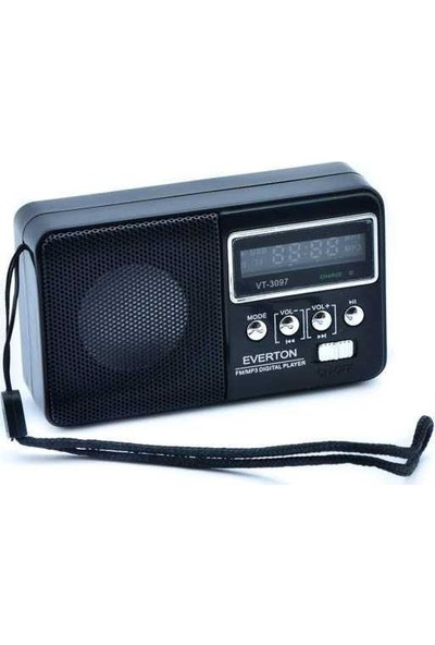 Everton Vt-3097 Radyo Siyah