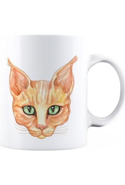 Baskimburada Beyaz Kupa Kişiye Özel Cat BBKB00058