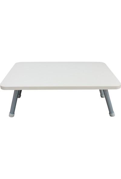 Esmahome Laptop Masası Katlanır Ayaklı - Çok Amaçlı Servis Masası 40 x 70 cm