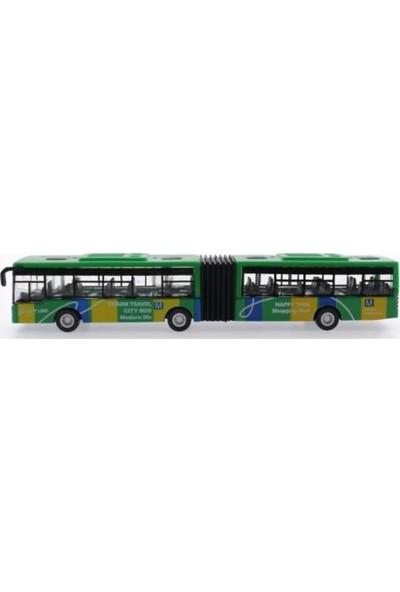 Mega Oyuncak Çek Bırak Yeşil Metal Körüklü Otobüs