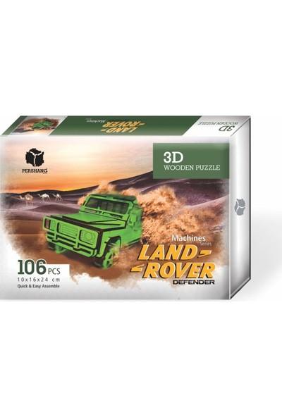Pershang Ahşap Land Rover 3 Boyutlu Yapboz