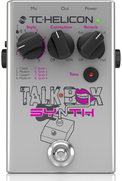 TC Helicon Talkbox Synth Gitar ve Vokal Efekt Pedalı