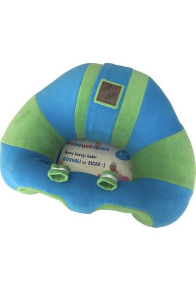 Bebe Yatmaz Bebeyatmaz Bebe Yatmaz Bebek Oturma Destek Minderi Bebek Koltuğu Mavi Yeşil