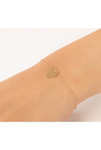 Craft Pırlanta Pure Koleksiyonu Pırlantalı Kalp Bileklik