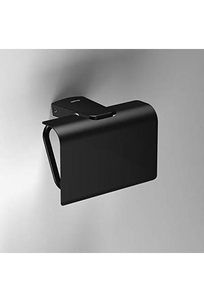 Soni̇a S6 Black Kapaklı Tuvalet Kağıtlık Siyah