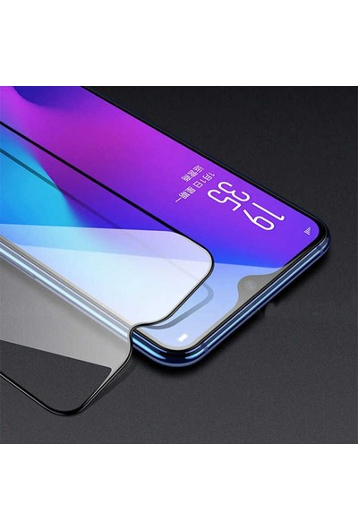 Eiroo Samsung Galaxy A01 Curve Tempered Glass Full Siyah Cam Ekran Koruyucu