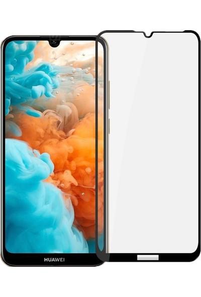 Eiroo Huawei Y6s 2019 Curve Tempered Glass Full Siyah Cam Ekran Koruyucu