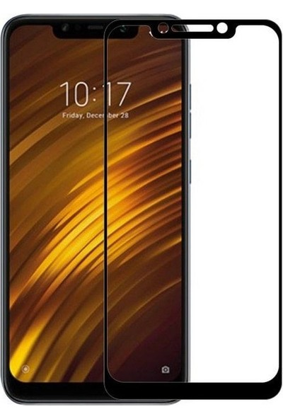 Vision Xiaomi Mi Pocophone F1 6D Cam Tam Ekran Koruyucu Çerçeveli Cam