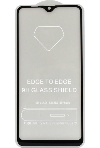 Vision Samsung Galaxy A10 6D Tam Kaplayan Ekran Koruyucu Çerçeveli