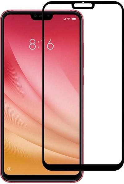 Vision Xiaomi Mi 8 Lite 6D Tam Kaplayan Ekran Koruyucu Çerçeveli