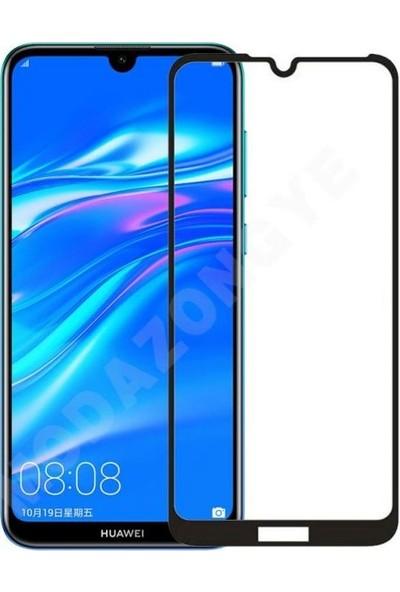 Vision Huawei Y7 2019 6D Tam Kaplayan Ekran Koruyucu Çerçeveli