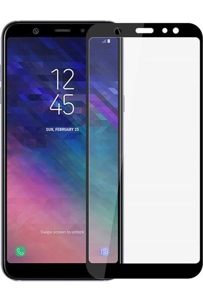 Vision Samsung Galaxy A6 2018 6D Tam Kaplayan Ekran Koruyucu Çerçeveli