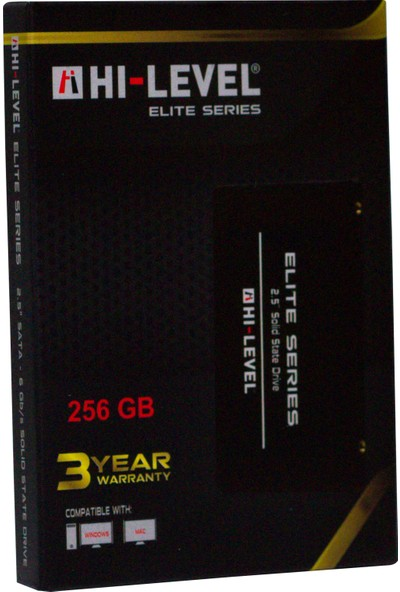 "Hi-Level Elite 256GB 560MB-540MB/s Sata 3 2.5"" SSD HLV-SSD30ELT/256G"