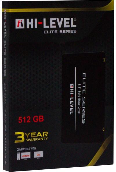 "Hi-Level Elite 512GB 560MB-540MB/s Sata 3 2.5"" SSD HLV-SSD30ELT/512G"
