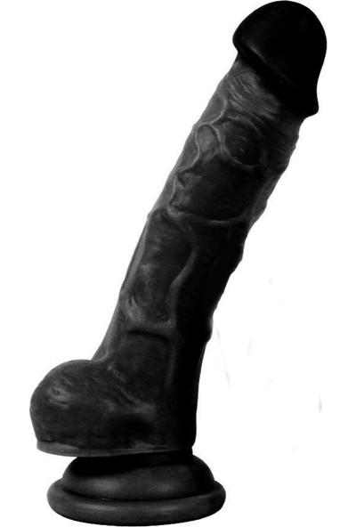 Dildo Series Siyah Adonis 18 cm Bükülebilir Esnek Realisitk Penis