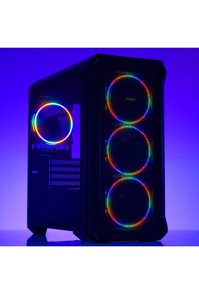 Dark Guardian Mini 4x12cm Fixed RGB LED Fanlı USB 3.0 Bilgisayar Kasası (DKCHGRMINI)