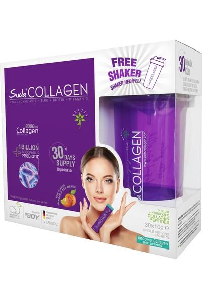 Suda Collagen + Probiotic Mandarin & Mango 30 Şase (Mango Aromalı)