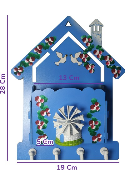 Moniev Anahtar Askısı Anahtarlık Posta Kutusu Dekoratif