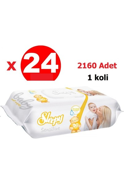 Sleepy Sensitive Islak Mendil 90'lı x 24 2160 Yaprak 1 Koli