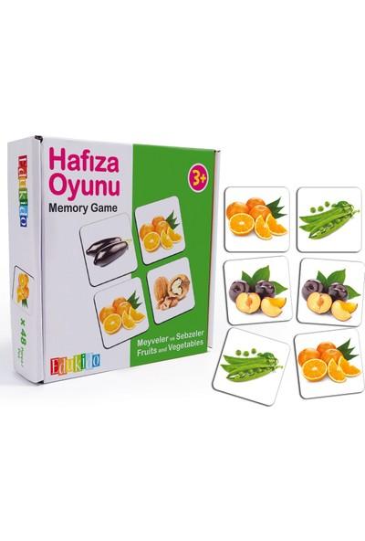 Edukido Eğitici Oyuncak Hafıza Oyunu - Meyveler ve Sebzeler