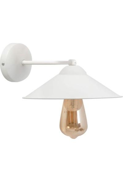 Riolight Retro Beyaz Şapkalı Metal Aplik