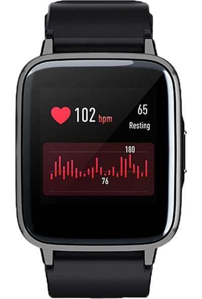Haylou LS 01 Akıllı Saat - IP68 Suya Dayanıklı - Nabız Takip - iOS&Android Uyumlu - Siyah