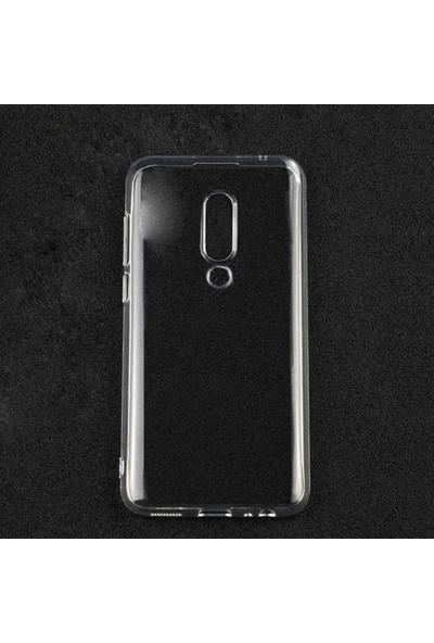 Case 4U Meizu 16 Kılıf Süper Silikon Arka Kapak - Şeffaf