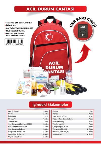 Deprem Çantası - Afet ve Acil Durum Ilk Yardım Seti / Çantası