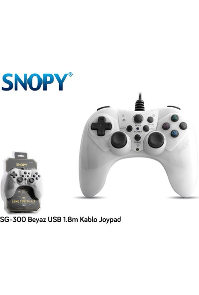 Snopy Sg-300 Beyaz Usb 1.8M Kablo Joypad