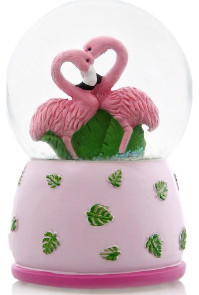 Hepsi Home Flamingo Kar Küresi Renk Değiştiren Işıklı ve Müzikli