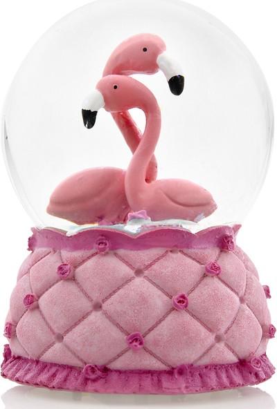 Hepsi Home Flamingo Renk Değiştiren Işıklı ve Müzikli Kar Küresi