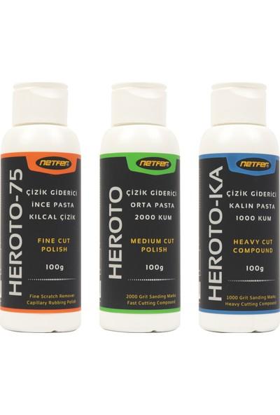 Netfer Heroto & Heroto-75 & Heroto-Ka 3'lü Pasta Set - 100 gr