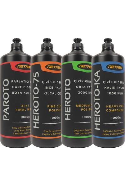 Netfer Paroto & Heroto & Heroto-75 & Heroto-Ka 4'lü Pasta Cila Set - 1 kg