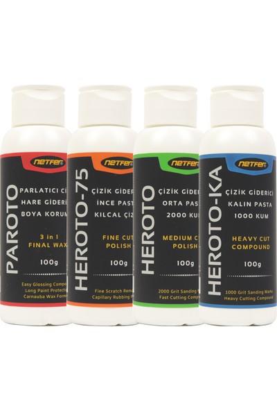 Netfer Paroto & Heroto & Heroto-75 & Heroto-Ka 4'lü Pasta Cila Set - 100 gr
