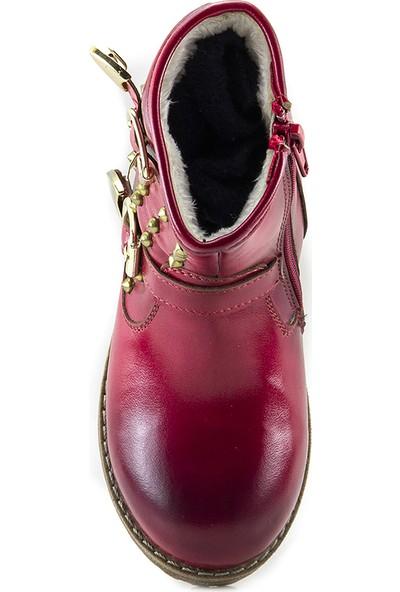 Minipicco Kız Çocuk Kırmızı Ortopedik Çizme