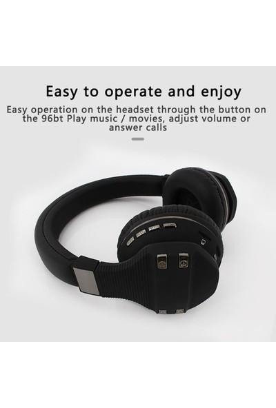 Wonderland 96WBT Kablosuz Bluetooth 5.0 Kulak Üstü Kulaklık - Kırmızı