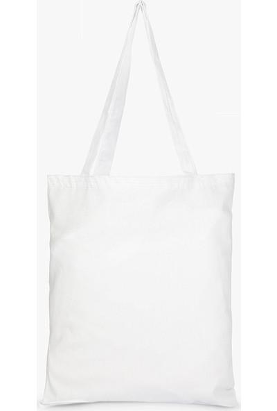 Syronix Alt Körüklü Beyaz Ham Bez Çanta 35 cm x 40 cm 20'li