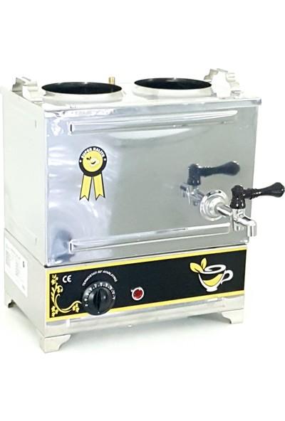 Yzc Çay Kazanı 2 Demlikli Çay Makinesi 15 Lt. Çay Semaveri 30 Model