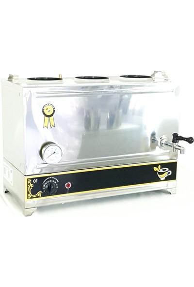Yzc Çay Kazanı 35 Litre Çay Makinesi 55 Model 3 Demlikli Kahveci Ocak