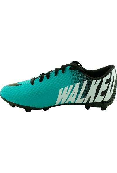 Walked 401 Kg Çim Saha Krampon Erkek Futbol Spor Ayakkabı Petrol 37