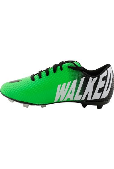 Walked 401 Kg Çim Saha Krampon Erkek Futbol Spor Ayakkabı Yeşil 37