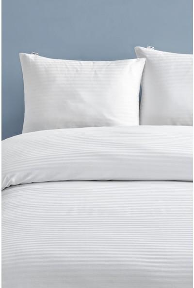 Marie Claire Otel Serisi-2 Li Yastık Kılıfı Amsterdam 100% Pamuk 50 x 70 Cm Beyaz