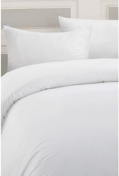 Marie Claire Otel Serisi-Tek Kişilik Nevresım Rome 100% Pamuk 160 x 220 Cm Beyaz
