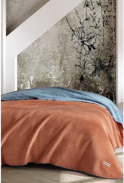 Marie Claire Tek Kişilik Battanıye-Joel 150 x 200 Cm Bakır/Yeşil