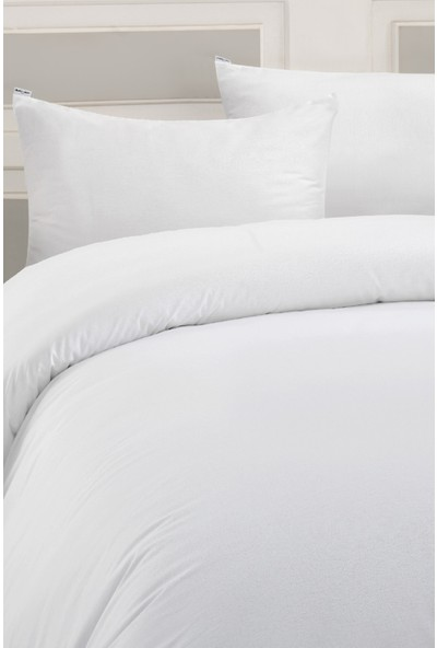 Marie Claire Otel Serisi-Tek Kişilik Çarşaf Prague Pamuk 180 x 260 Cm Beyaz